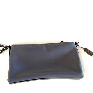COACH grey/black sm satchel convertible wristlet